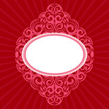 ramowy ozdobny czerwony retro Fotografia Royalty Free