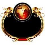 ramowy ozdobny świat Zdjęcia Stock