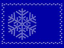 ramowy płatek śniegu Zdjęcia Royalty Free