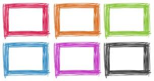 Ramowy projekt w różnych kolorach ilustracji