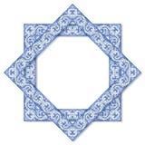 Ramowy projekt z typowymi portuguese dekoracjami z barwionymi ceramicznymi płytkami dzwonił ` azulejos ` zdjęcie royalty free
