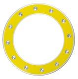 ramowy round kolor żółty Fotografia Stock