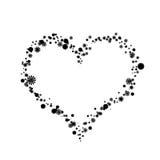 ramowy serce ilustracja wektor