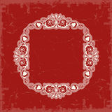 ramowy skryty ilustracyjny styl symetryczne rocznik wektor Fotografia Royalty Free