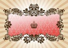 ramowy splendoru czerwieni rocznik royalty ilustracja