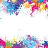 Ramowy szablon robić farb plamy royalty ilustracja