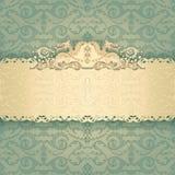 Ramowy sztandar z ozdobnym tapetowym tłem Zdjęcie Royalty Free