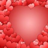ramowy tła serce Zdjęcie Stock