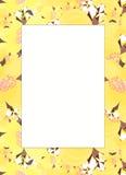 Ramowy wzór dla karty z jaśminem również zwrócić corel ilustracji wektora Fotografia Stock