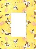 Ramowy wzór dla karty z jaśminową wektorową ilustracją Zdjęcie Stock