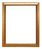 ramowy złocisty obrazek Obraz Stock