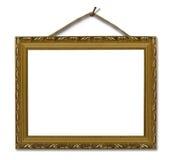 ramowy złocisty obrazek Obraz Royalty Free