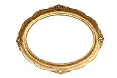 ramowy złocisty obrazek matrycujący drewniany Obrazy Royalty Free