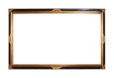 ramowy złocisty obrazek matrycujący drewniany Zdjęcie Royalty Free