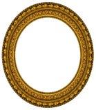 ramowy złocisty owalny obrazek zdjęcie royalty free