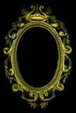 ramowy złocisty ozdobny fotografia royalty free