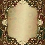 ramowy złocisty półprzezroczysty rocznik Obraz Royalty Free