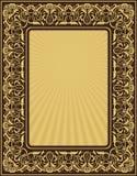 ramowy złocisty prostokąt Zdjęcia Royalty Free