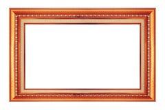 Ramowy złota i groszaka rocznika odosobniony tło Obraz Stock