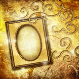 ramowy złoty Obraz Stock