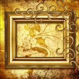 ramowy złoty Fotografia Royalty Free