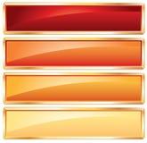 ramowy złoty gorący Zdjęcia Stock