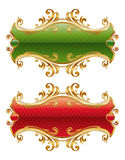 ramowy złoty luksus Zdjęcia Royalty Free