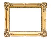 ramowy złocisty drewniany Fotografia Stock