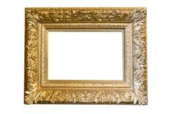 ramowy złocisty obrazek Zdjęcia Stock