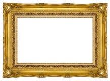 ramowy złocisty ozdobny obrazek Zdjęcie Stock