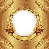 ramowy złocisty rocznik Obraz Royalty Free
