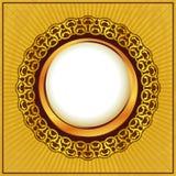 ramowy złocisty rocznik Obrazy Royalty Free