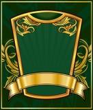 ramowy złocisty rocznik Fotografia Royalty Free