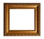 ramowy złocisty stary kwadrat Zdjęcie Royalty Free