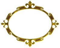 ramowy złocisty stary styl Fotografia Royalty Free