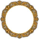 ramowy złoty odosobniony Fotografia Stock