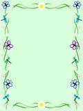 ramowy zielony insekt royalty ilustracja