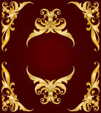 ramowy złoty Obraz Royalty Free