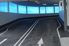 Ramp 003. A ramp in a parking house Royalty Free Stock Photos