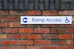 Ramp access royalty free stock images