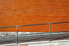 Ramp access. A wheelchair ramp - Barrier free access Royalty Free Stock Image