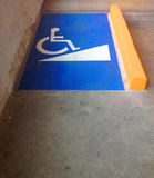 Ramp access for disable people Royalty Free Stock Photo