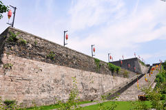 Ramp av den Zhonghua porten i Nanjing, Kina Royaltyfria Bilder