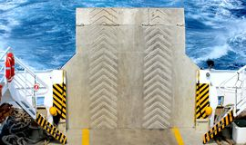 Ramp for cars on the ferry Royalty Free Stock Image