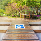 Ramp for the disabled Royalty Free Stock Photography