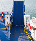 The ramp of a ferry boat Stock Photo