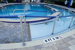 Accessible pool ramp Stock Photography