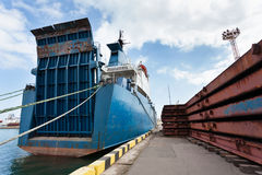 Ramp ship Royalty Free Stock Images