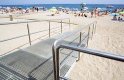 Ramp to the beach Royalty Free Stock Photos