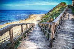 Ramp to the beach Royalty Free Stock Image